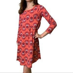 TEA COLLECTION St. Kilda Pieced Dress Floral 10